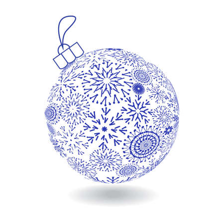Christmas Ball Of Made Snowflakes