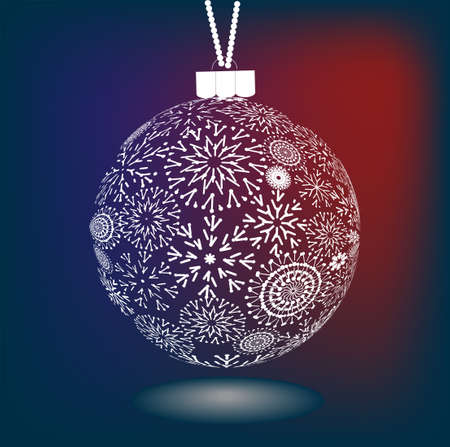 作られた雪の結晶のクリスマス ボール  イラスト・ベクター素材