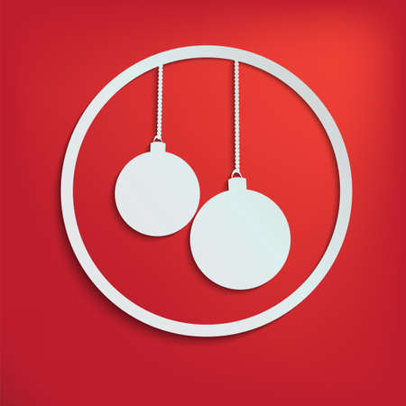 two christmas balls for your design Illustration