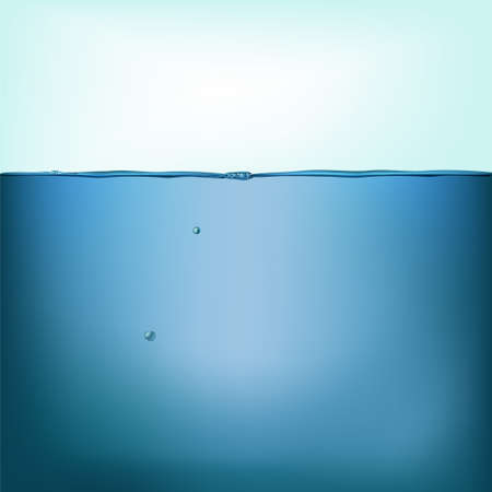 Vector still water background isolated