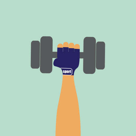 Hand with dumbbell