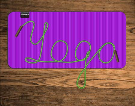 mat: yoga lettering on mat