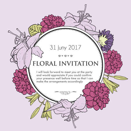 Romantic floral background for wedding