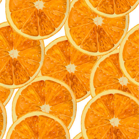 Orange watercolor pattern. Seamless background. Vector illustsration.