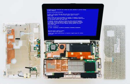 fatal: Fatal crash of the OS windows. Blue screen