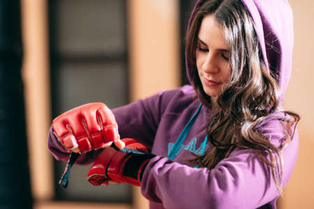 self defence: Woman Self Defence Workout Boxing Healthy Lifestyle Training Gym Martial Arts Concept