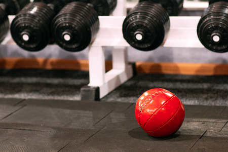 weightlifting equipment: Sport Equipment Dumbbell Medicine Weighted Ball Weightlifting Bodybuilding Gym Lifestyle Concept