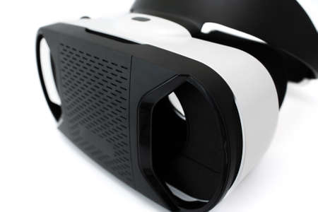 simulate: Virtual reality goggles, isolated on white.