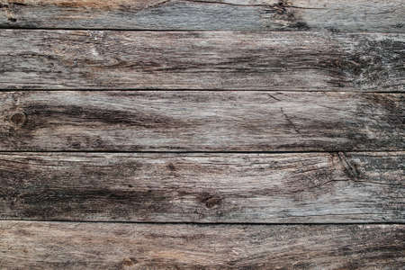 Horizontal wooden planks texture. Old rustic wood, aged table, wall, floor background Standard-Bild