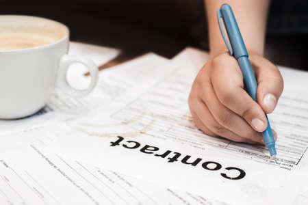 bureaucracy: Contract Business Deal Bureaucracy Work Agreement Mess Concept