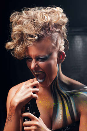 boldness: Lifestyle Woman Punk Rock Fashion Music Emotion Expression Aggression Anger Concept