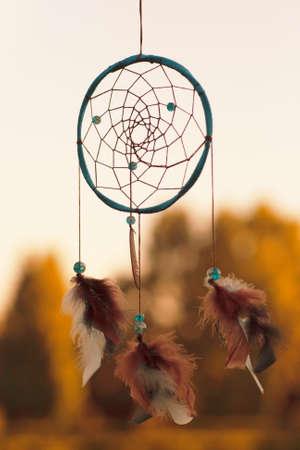 Indian dream catcher. The romantic cherokee spiritual sleep amulet. Dreamcatcher