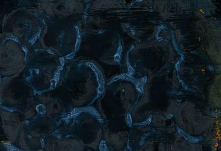 더러운 유리 물고기 비늘 협회 배경 개념. 현대 미술 비전. 풍부한 상상력.