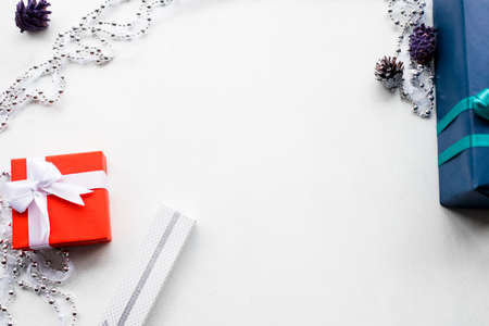 fashionable accessorize gift on white background. expensive and luxury jewelry present for birthday, new year, christmas, valentines day, and other occasion