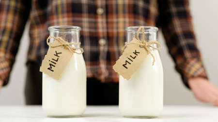 milk bottles choice. Quality products from local dairy farms.