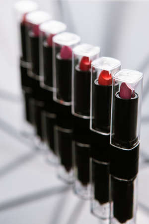 wide range of womens lipsticks. makeup artist paradise. compulsory attribute of beauty