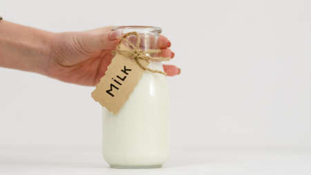 fresh milk from concept. Buy organic products at farmers markets. Best quality goods for your child