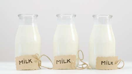 乳製品。カルシウム、ビタミンD、アミノ酸の概念。フィットネスライフスタイル 写真素材