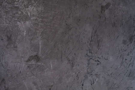 abstract distressed decor background. texture dark grey scratched plaster design. free space concept Stock fotó