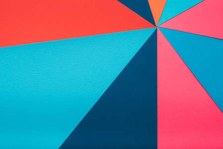 colorful construction paper combination. abstract geometric background. multicolor kaleidoscope concept.