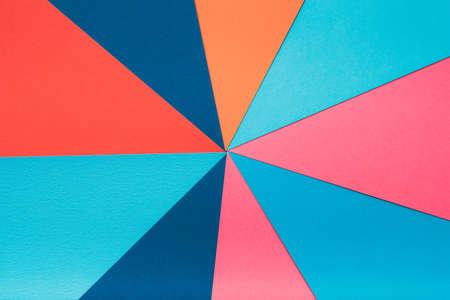 colorful construction paper combination. abstract geometrical background. multicolor kaleidoscope concept. Imagens