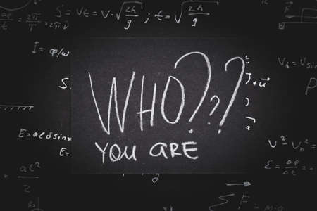who you are. self identification introspection analysis and improvement. Stok Fotoğraf