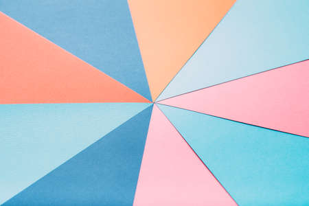 multicolor construction paper combination. abstract geometrical background. mute unsaturated pastel colors.