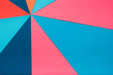 multicolor construction paper collage. abstract geometric background 写真素材