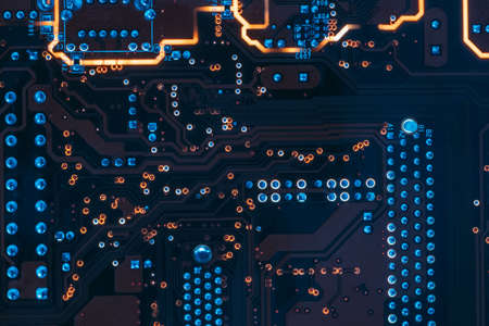 printed circuit board. electronic components engineering and development. Stock fotó