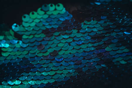Blue sequin pattern background. Conceptual scale shimmer. 版權商用圖片