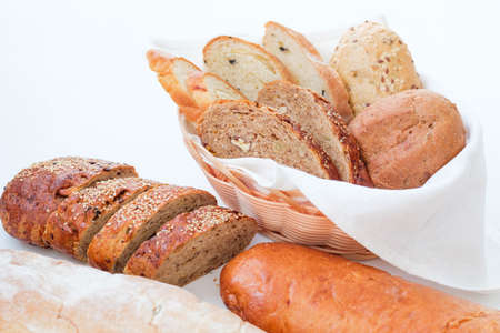 Freshly baked bread assortment. Wholesome European bakery.