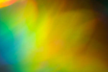Blurred green and yellow lights. Bokeh abstract background with lens flare glow effect. Stock Photo - 121284552