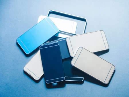 Case cover for smartphone. Plastic accessories waste. Heap of cheap low quality products equipment. Right choice matters.