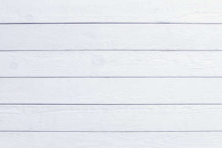 White wooden planks background. Clean painted texture. Table paneling board 写真素材