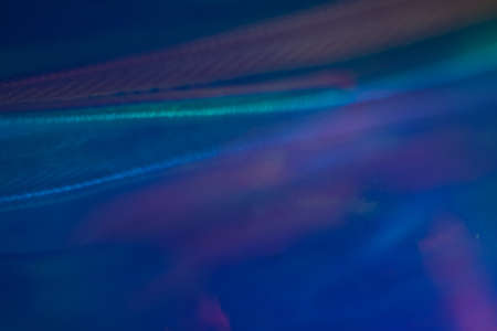 Defocused blue light waves. Blurry abstract background. Soft lens flare glow effect. Stock Photo - 121284502