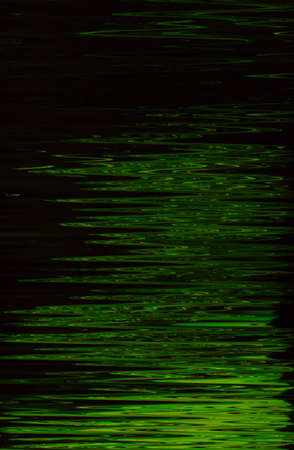 Abstract dark green paint background. Night moonlight shiny liquid surface. Water expanse. Zigzag ripples pattern texture.