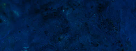 Abstract dark blue gradient paint background. Acrylic texture space nebula like pattern. Rough uneven surface. Design idea. Imagens