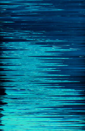 Abstract art texture background. Moon light reflection on water surface design. Blue shades paint with ripple effect.