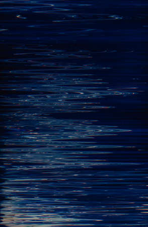 Abstract dark blue paint background. Moonlight effect liquid fluid surface. Water expanse. Zigzag ripples pattern texture. Archivio Fotografico - 123868231