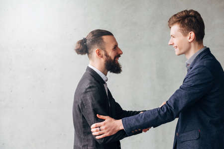 Successful negotiation, handshake. Modern corporate life. Business partners making a deal.