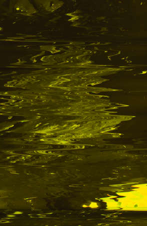 Abstract art texture background. Water surface in motion design. Yellowish paint with ripple effect.