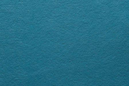 Teal blue felt texture abstract art background. Colored fabric fibers surface. Empty space. Reklamní fotografie
