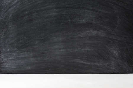 Education concept. Black empty chalkboard abstract art background. Copy space.