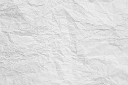 Weiß zerknittertes Papier abstrakte Kunst Hintergrund. Zerknitterter Textureffekt. Platz kopieren.