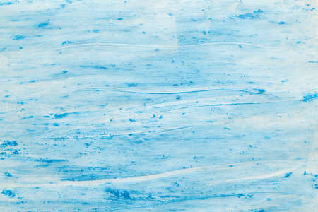 Blue acrylic paint. Decorative art abstract background. Plaster wall effect surface. Stock fotó