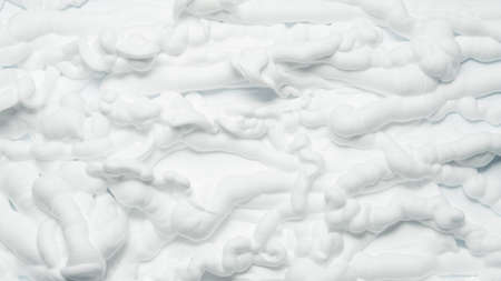 White foam texture abstract art background. Closeup of surface covered with whipped cream. Stock fotó
