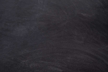 School life concept. Black empty, clean chalkboard abstract art background. Copy space.