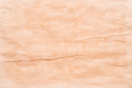 Beige wrinkled paper abstract art background. Textured watercolor painting. Copy space. Banco de Imagens