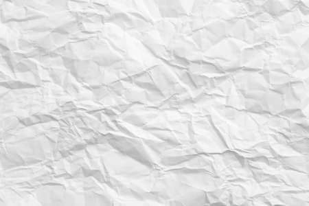Blank white wrinkled paper. Cellulose industry. Abstract art background. Copy space.