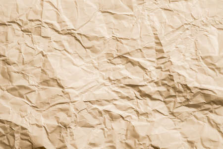 Blank beige crushed paper. Rock pattern effect. Abstract art background. Copy space.